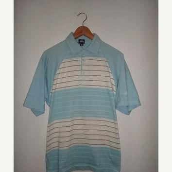 New Year Sale Vintage Stussy Polo Shirt Skateboard Surf Made In USA