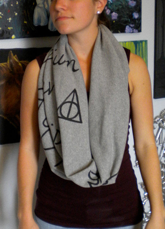 Harry Potter Spells and Charms Infinity Scarf in by calicoowls