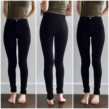 High Waisted Skinnies in Black