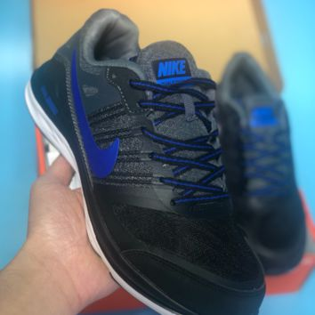 DCCK N486 Nike Dual Fusion X Light Breathable Running Shoes Black Blue