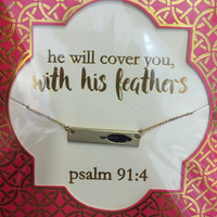 Psalm 91:4 Simply Southern Necklace