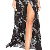 FLYNN SKYE Wrap It Up Skirt in Jet Black Burst