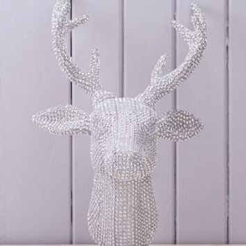 Diamante Wall Hanging Reindeer Head