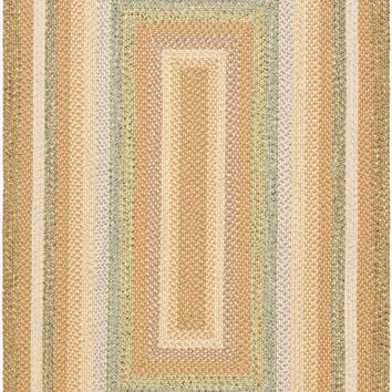 Braided Transitional Indoor Area Rug Tan / Multi