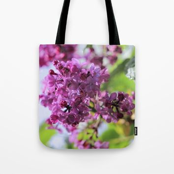 Lilacs After Morning Rain Tote Bag by Theresa Campbell D'August Art