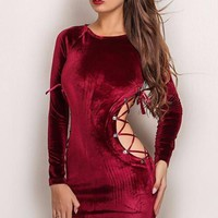 Xandra Velvet Bodycon Dress