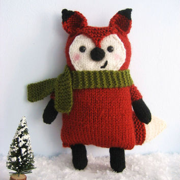Amigurumi Knit Little Fox Pattern Digital Download