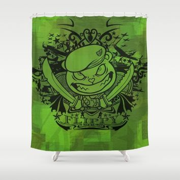 Flippy_HappyTreeFriend Shower Curtain by MusyeeChan