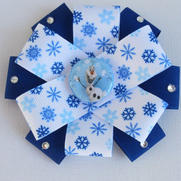 Disney Frozen Olaf Flower Hair Bow