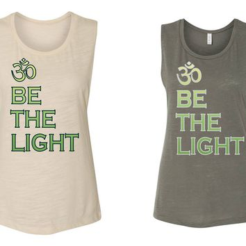 Be the Light OM Yoga Muscle Tank