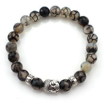 (3 pcs/lot) Natural Stone Buddha Bracelets Hot  Multi color Bracelet Wristband For Women Men, easy to wear and very cool looking..