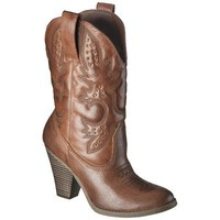 Women's Mossimo Supply Co. Kala Heeled Western Boot with Studs - Brown