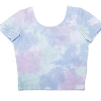 I DYE CROP SHIRT IN COTTON CANDY