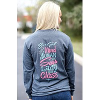 Southern Darlin Lady With Class Longsleeve Bright Girlie T-Shirt