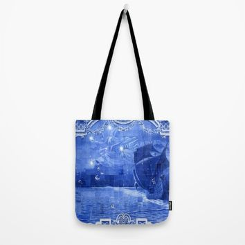 Portugal Azulejo Tile Tote Bag by Tony Silveira