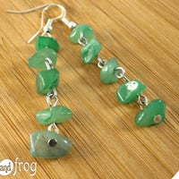 "Earring ""Green chips"""