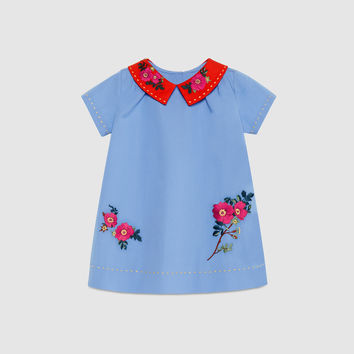 Gucci Baby cotton dress with embroidery