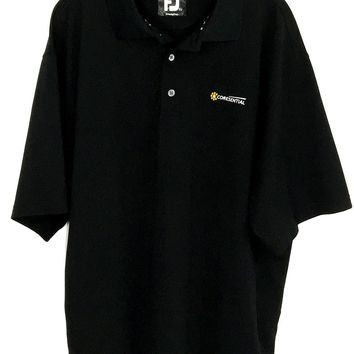 Footjoy FJ ProDry Pique Coresential Black All Polyester Polo Shirt Mens Size XL - Preowned