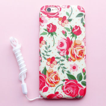 Stylish Iphone 6/6s On Sale Hot Deal Cute Iphone Korean Floral Apple Silicone Phone Case [8864196999]