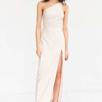 Silence + Noise Metallic One-Shoulder Maxi Dress - Urban Outfitters