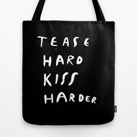 WORK HARD, PLAY HARDER Tote Bag by WASTED RITA