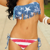 Swimsuits- American Flag Fringe