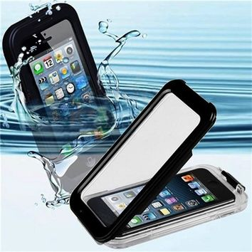 hot Black New IPX-8 Waterproof Hard Cover Case for iPhone 5 5S Sport Swimming PC case Diving Phone Cases durable and lightweight