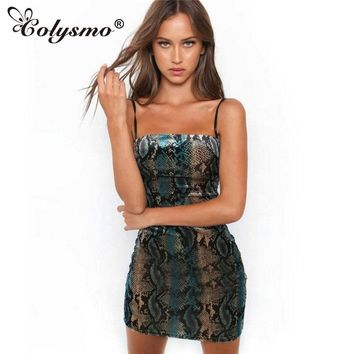 Colysmo Women's Clothing Serpentine Slim dress Tight bag hip dress Bracelet headdresses A word tight Party dress Slim new