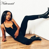 NATTEMAID Jumpsuit Womens Romper Sexy Female Casual Streetwear New Arrival One piece Slim Bodycon long Jumpsuits Overalls
