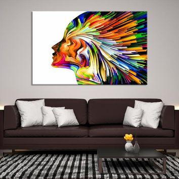 78624 - Abstract Canvas Print | Modern Artwork | Psychedelic Wall Art | Absract Printing | Creative Wall Art | Abstract Wall Art | Vivid Wall Art