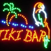 "Tiki Bar LED Sign 19"" X 19"" [Bright] [Flashing] [On/off Switch]"