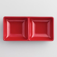 Black and Red Melamine Sauce Dishes Set of 6