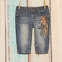 Girls Size 7 MUDD Denim Capri jeans Back to School