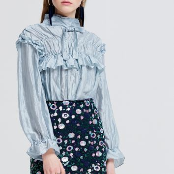 Joann Layered High Neck Blouse Discover the latest fashion trends online at storets.com