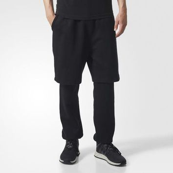 AUGUAU  ADIDAS ORIGINALS MEN WINTER SWEATPANTS BLACK BS2744