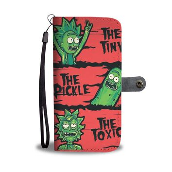 KUYOU The Tiny The Pickle The Toxic Rick & Morty Wallet Phone Case