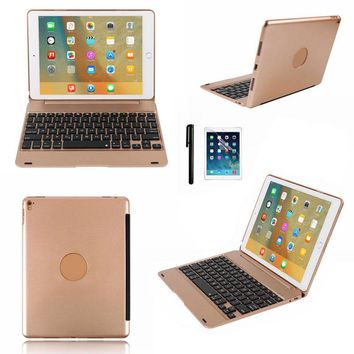 Smart Folio Case Cover for Apple iPad Pro 9.7 for iPad Air2 Wireless Bluetooth Keyboard with Stylus Pen USB Charge Cable Kit