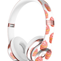 Pink Watercolor Cupcake Swirl Full-Body Skin Kit for the Beats by Dre Solo 3 Wireless Headphones