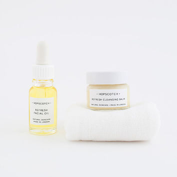 Hopscotch Refresh Skincare Set — Lemongrass and Sweet Orange Gift Set — Oily/Combination Natural Skincare — Made in the UK