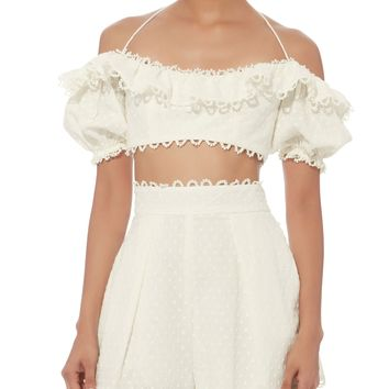 Melody Off Shoulder Crop Top
