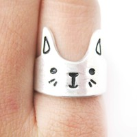 Bunny Rabbit Shaped Cartoon Animal Ring in Silver | Animal Jewelry