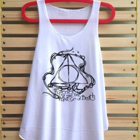 Deathly Hallows art shirt Harry potter shirt tank top Harry Potter clothing vintage vest tee tunic - size S M