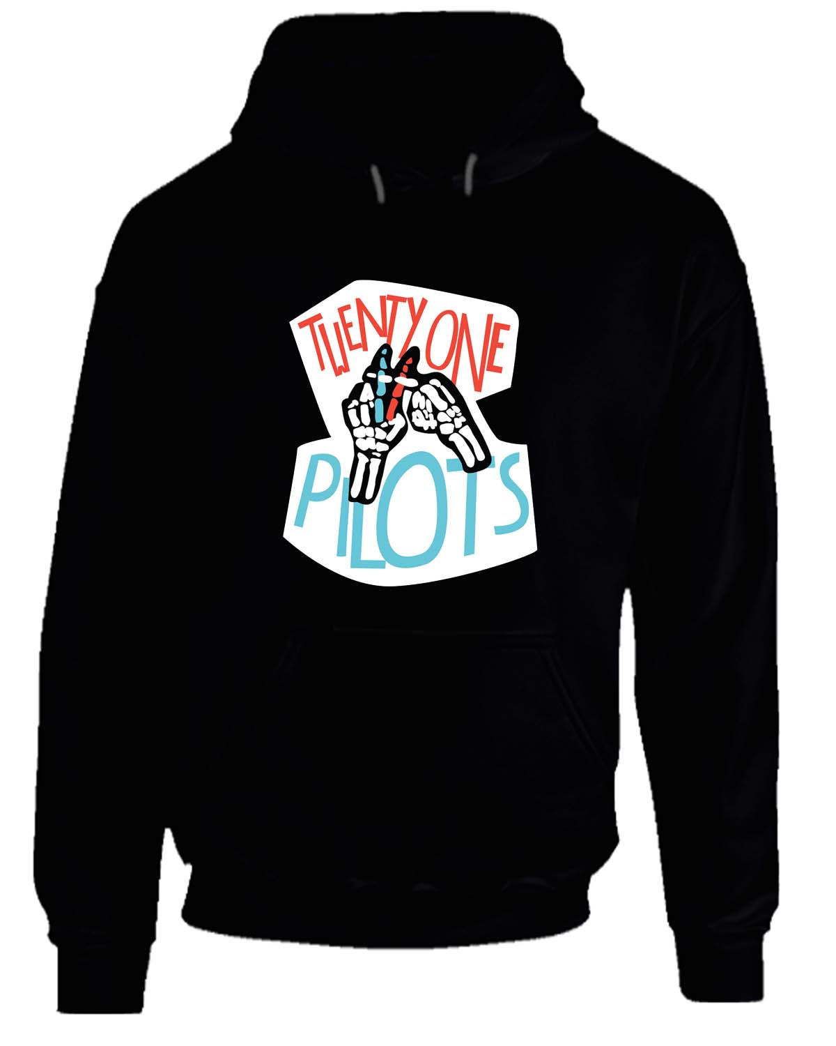 twenty one pilots skeleton 2 hoodie from teehouses clothes. Black Bedroom Furniture Sets. Home Design Ideas