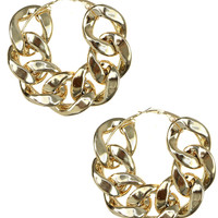 CHAINED UP HOOP EARRINGS