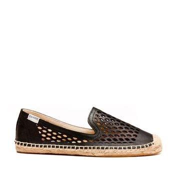 Soludos Laser Cut Smoking Slipper Laser Cut Espadrille