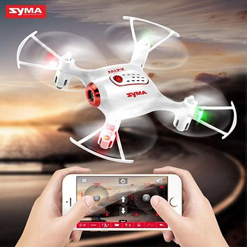 SYMA X21W RC Mini Drone Carry 2MP FPV HD Camera Selfies Quadcopter RC Helicopter Pocket Dron Children's toys