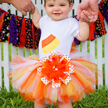 Candy Corn Tutu Set,Candy Corn Shirt,Candy Corn Tutu,Halloween Costume,Halloween Outfit,Infant Outfits,Toddler Outfits,(18 Months and Up)