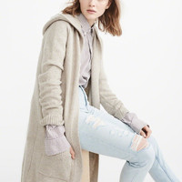 Womens Long Hooded Cardigan | Womens New Arrivals | Abercrombie.com