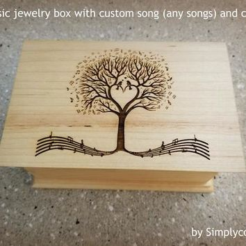 Music Box Custom Song - Custom Music Box - Music box choose your song - Electronic music box playing your song in music box version