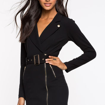 Haute Black Blazer Dress